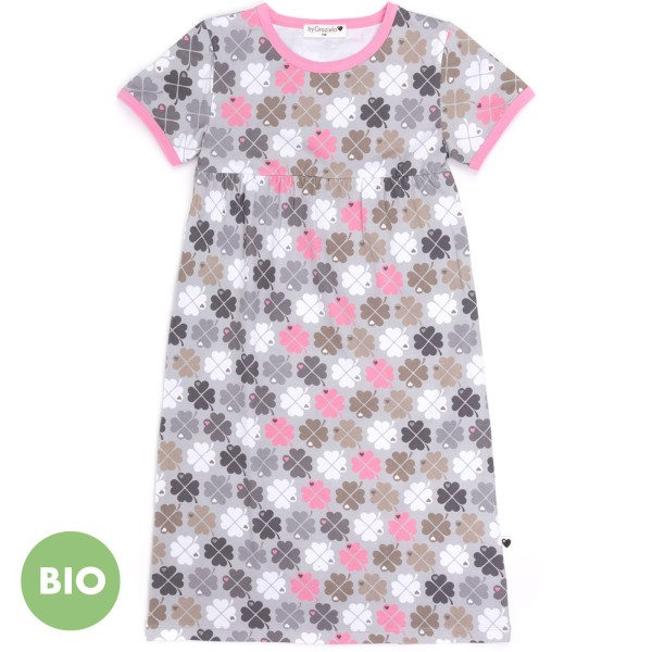 Kindernachthemd Kleeblatt / Rosa
