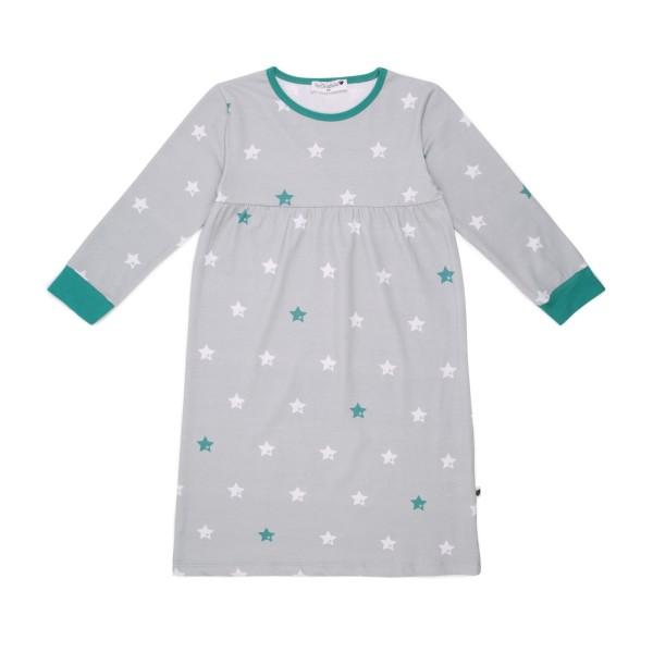 Kindernachthemd Sterne / Grau