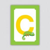 ABC Postkarte – C