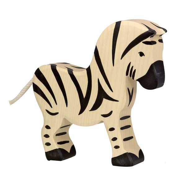 Holztier / Zebra