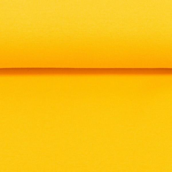 Bündchenstoff uni / Gelb