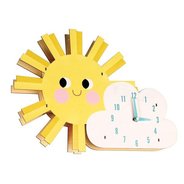 Wanduhr Sonne