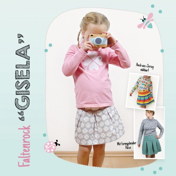 "Faltenrock ""Gisela"" / Kinder – Schnittmuster-eBook"