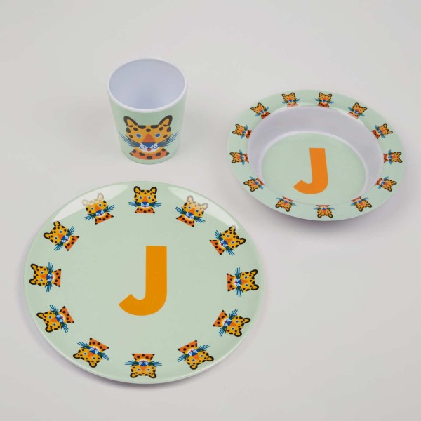 ABC Melamingeschirr-Set J