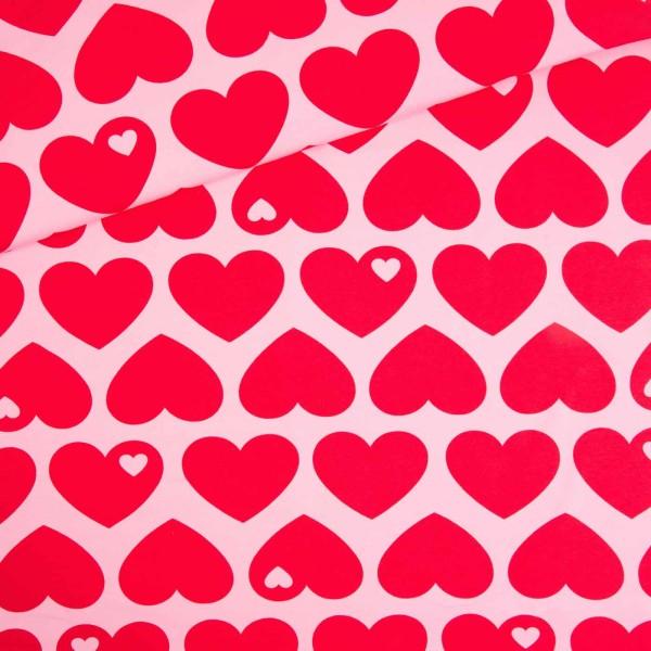 Baumwollsweat Big Heart me / Pink