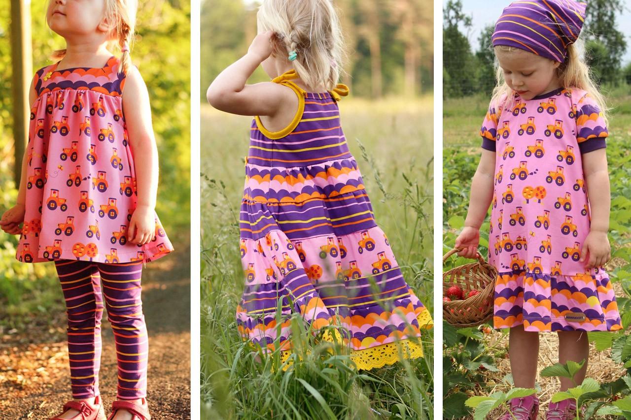 Drei einfache Kleider für Mädchen nähen!