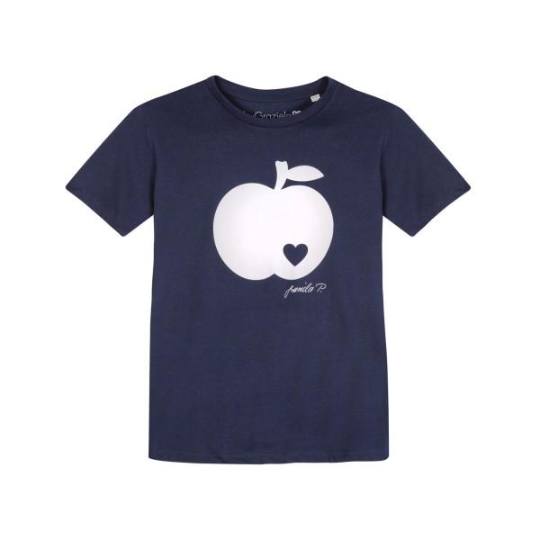 Kinder T-Shirt / Apfel auf navy