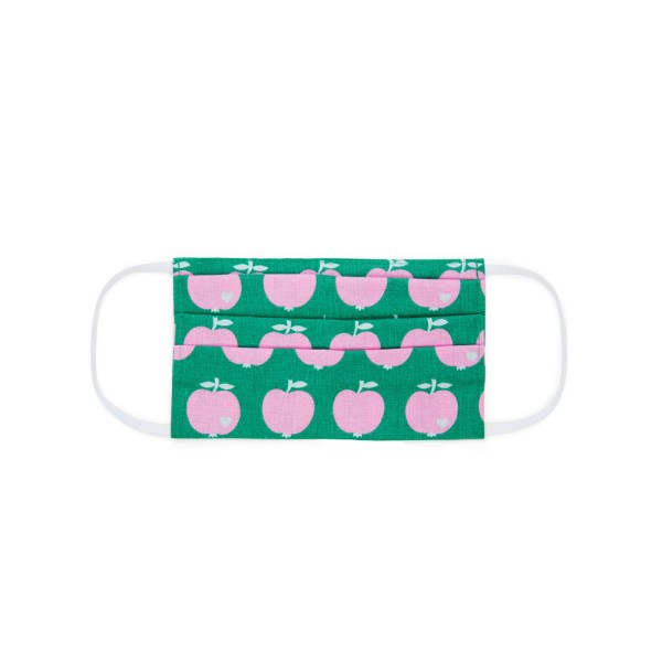Maske Kinder / Apfel / Grün