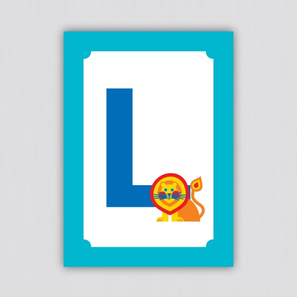 ABC Postkarte – L