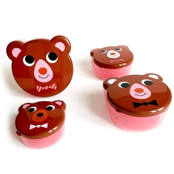 Snackboxen-Set / Bären braun