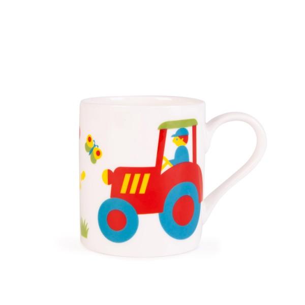 Kinder Porzellanbecher Traktor