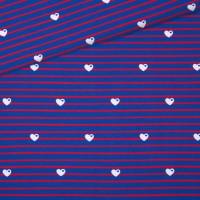 Jersey Breton kleine Herzen / blau-rot
