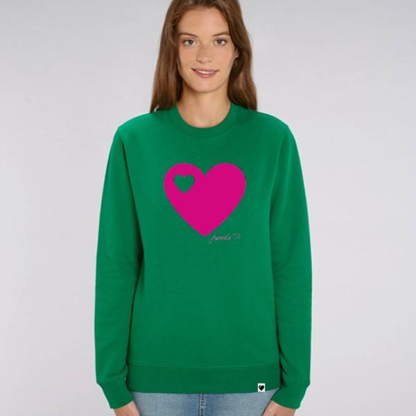 Sweatshirt / Grün pink