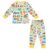 Kinderschlafanzug Bauernhof / Gelb