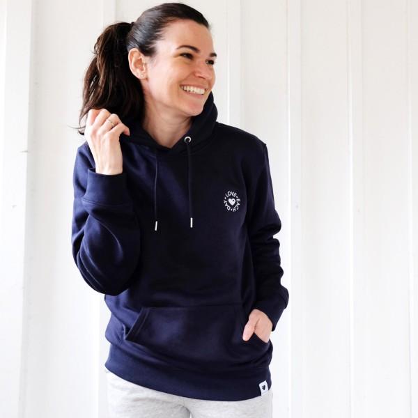 Kapuzen-Sweatshirt Love Each Day / Navy