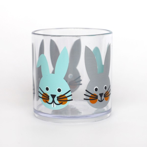 Becher Hase / Grau Mint