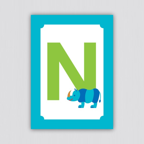 ABC Postkarte – N