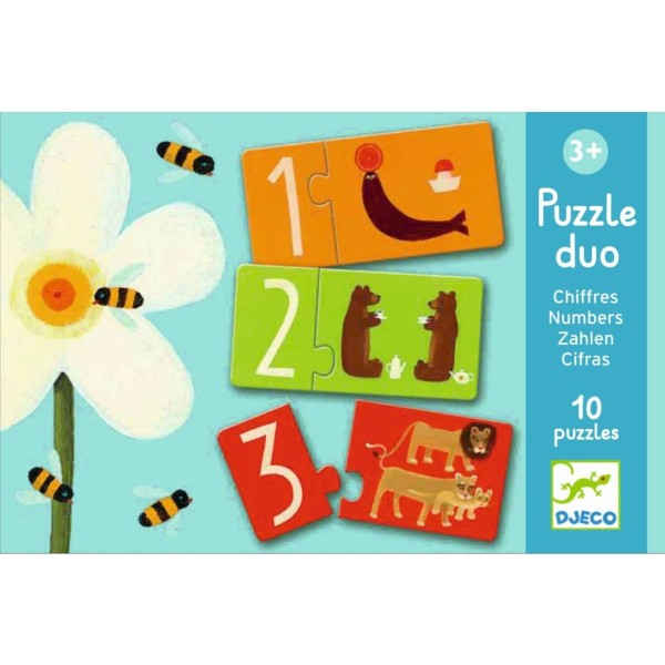 Lernspiel Puzzle Duo / Zahlen