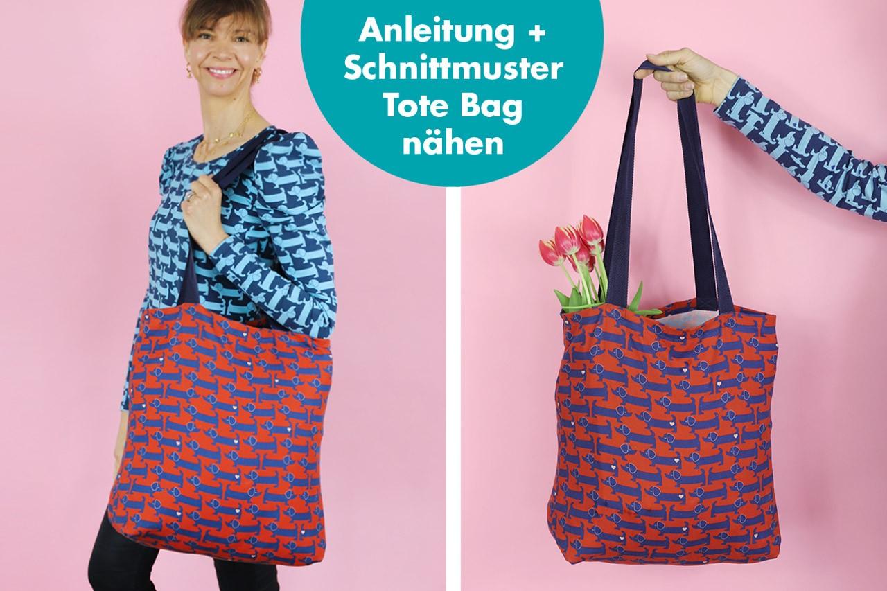 ♥ FREEBIE ♥ Tote Bag Tasche nähen: ganz einfach!