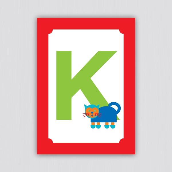 ABC Postkarte – K