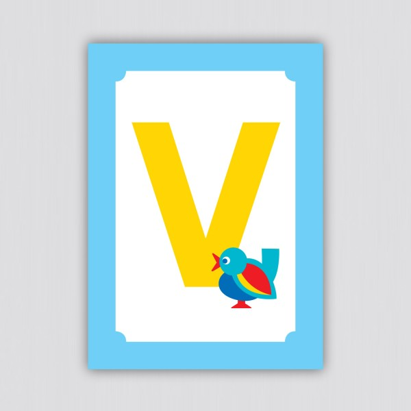 ABC Postkarte – V