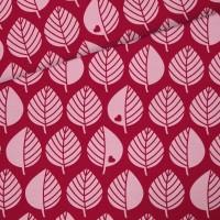 Baumwollsweat Große Blätter / Beere
