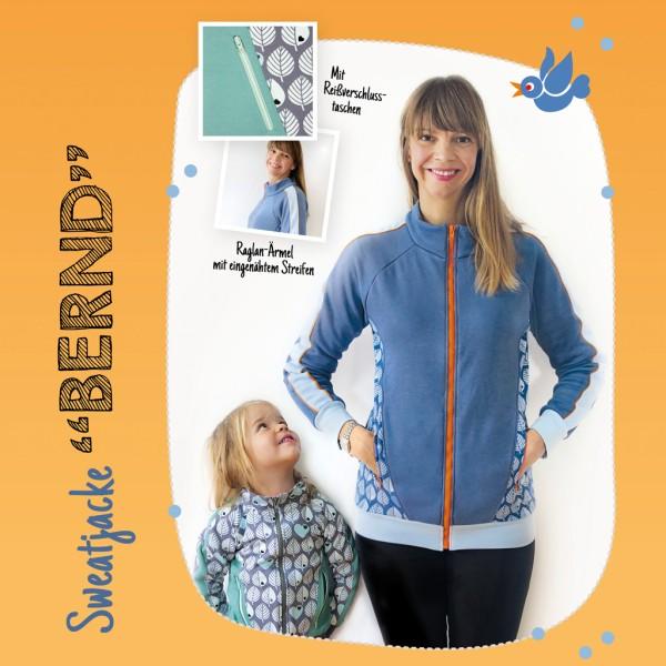 "Sweatjacke ""Bernd"" / Kinder & Damen – Schnittmuster-eBook"
