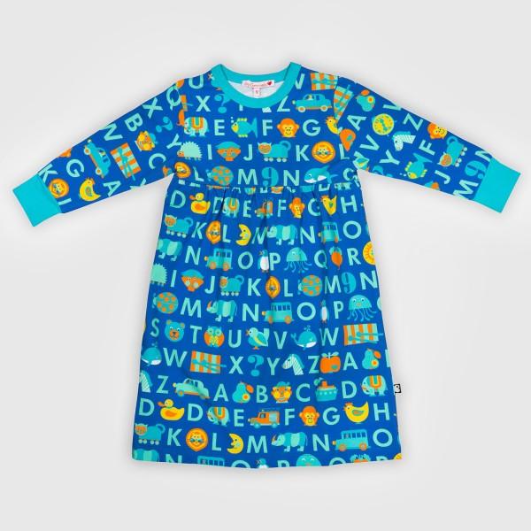 Nachthemd ABC / Blau