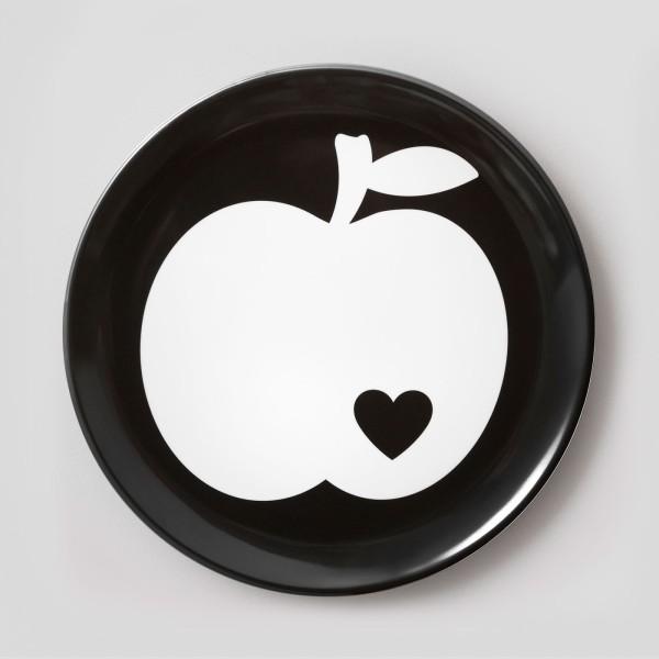 Melamin Teller Apfel groß