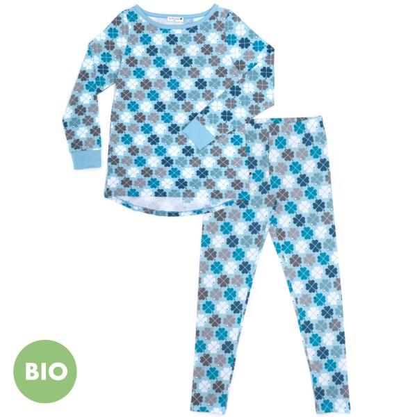 Mama Schlafanzug Kleeblatt / Blau