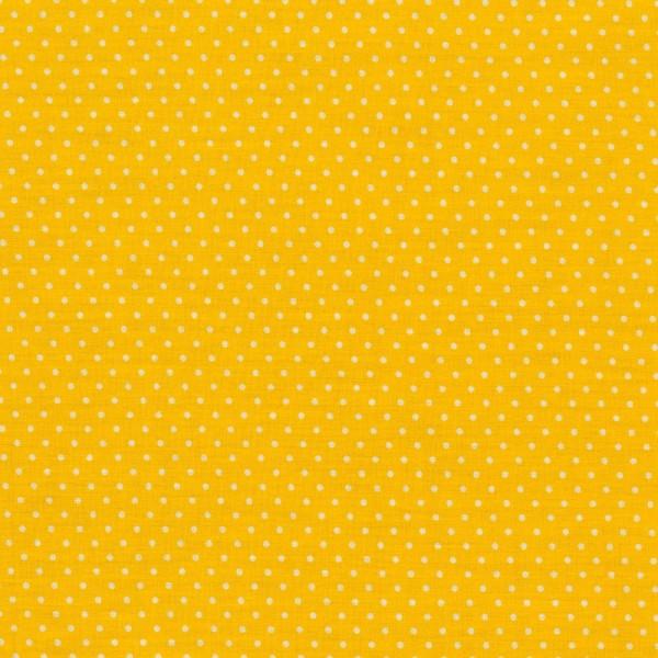 Baumwollstoff kleine Punkte / Gelb
