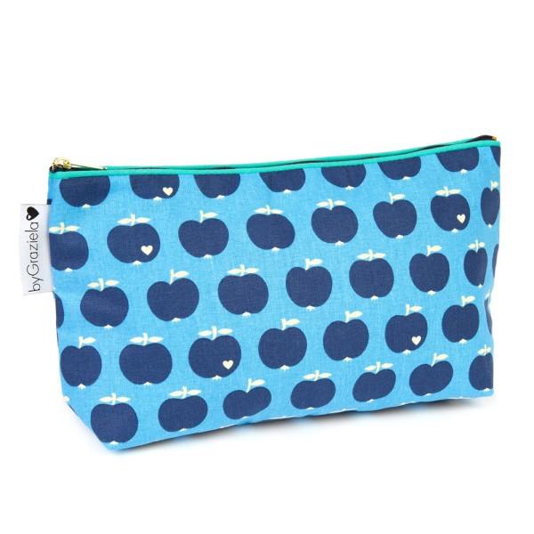 Apfel Kulturtasche - Blau-Blau