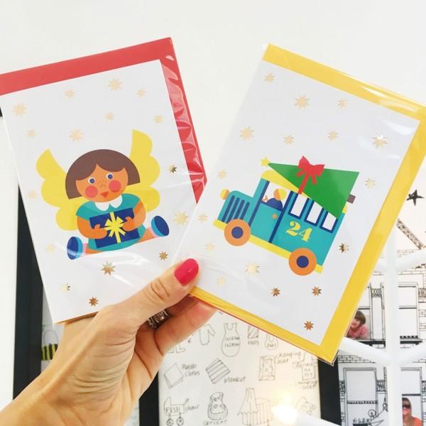 Weihnachtskarten 4er Set