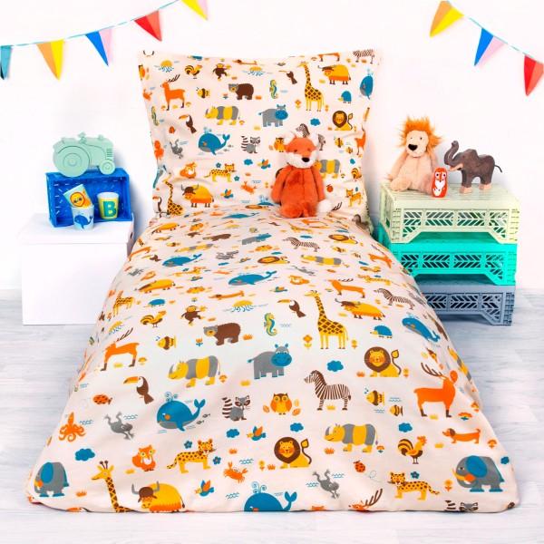 Kinderbettwäsche - Welt der Tiere