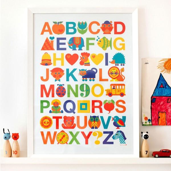 ABC Poster für Kinder   byGraziela   byGraziela