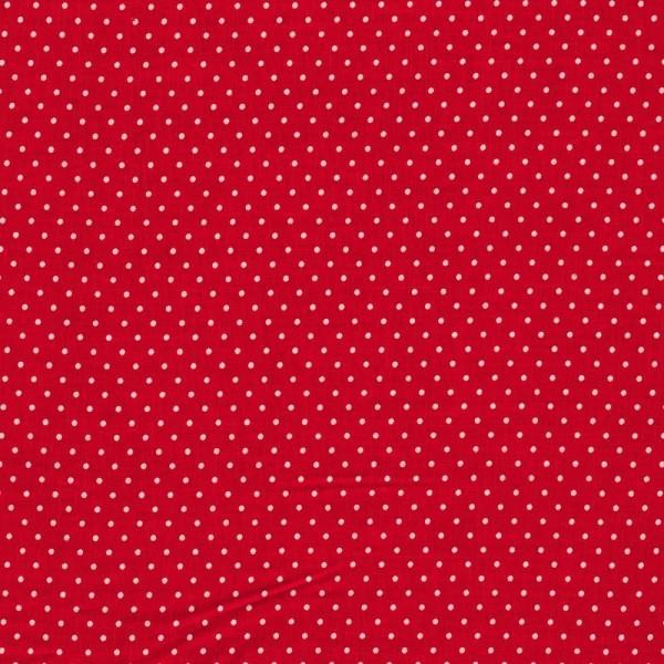 Kombi-Baumwollstoff kleine Punkte / Rot