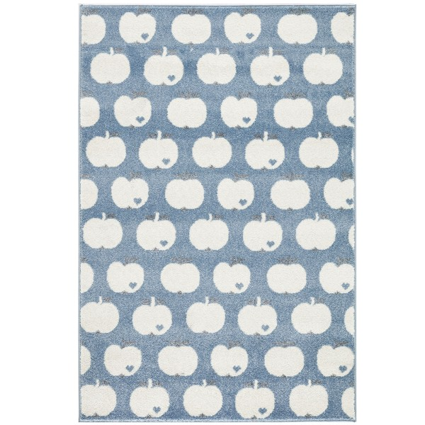 Teppich Apfel / Blau / 120 x 180