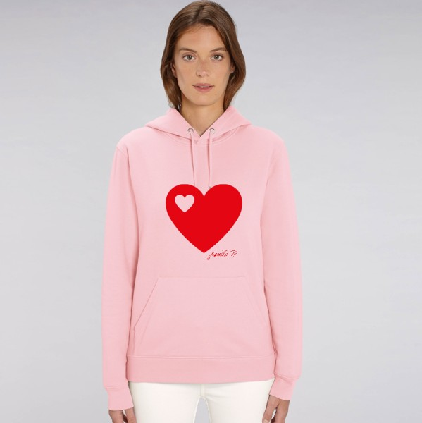 Kapuzen-Sweatshirt Pink / Herz