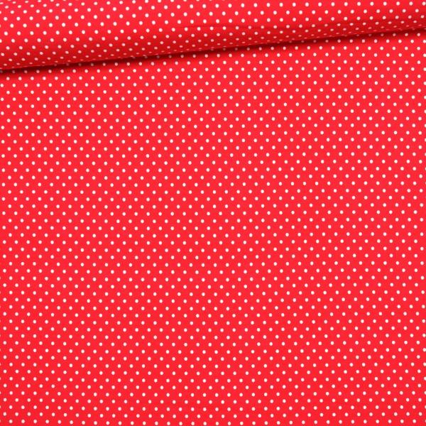 Jersey kleine Punkte / Rot