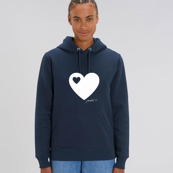 Kapuzen-Sweatshirt Navy / Herz