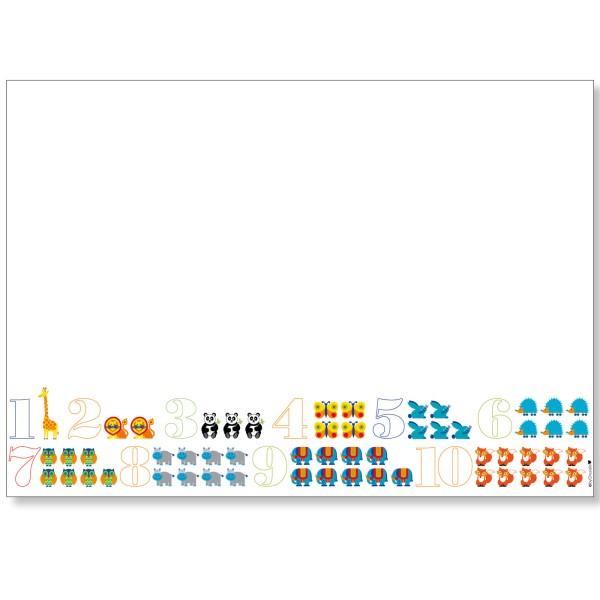 Schreibtischunterlage A2 / Zahlen