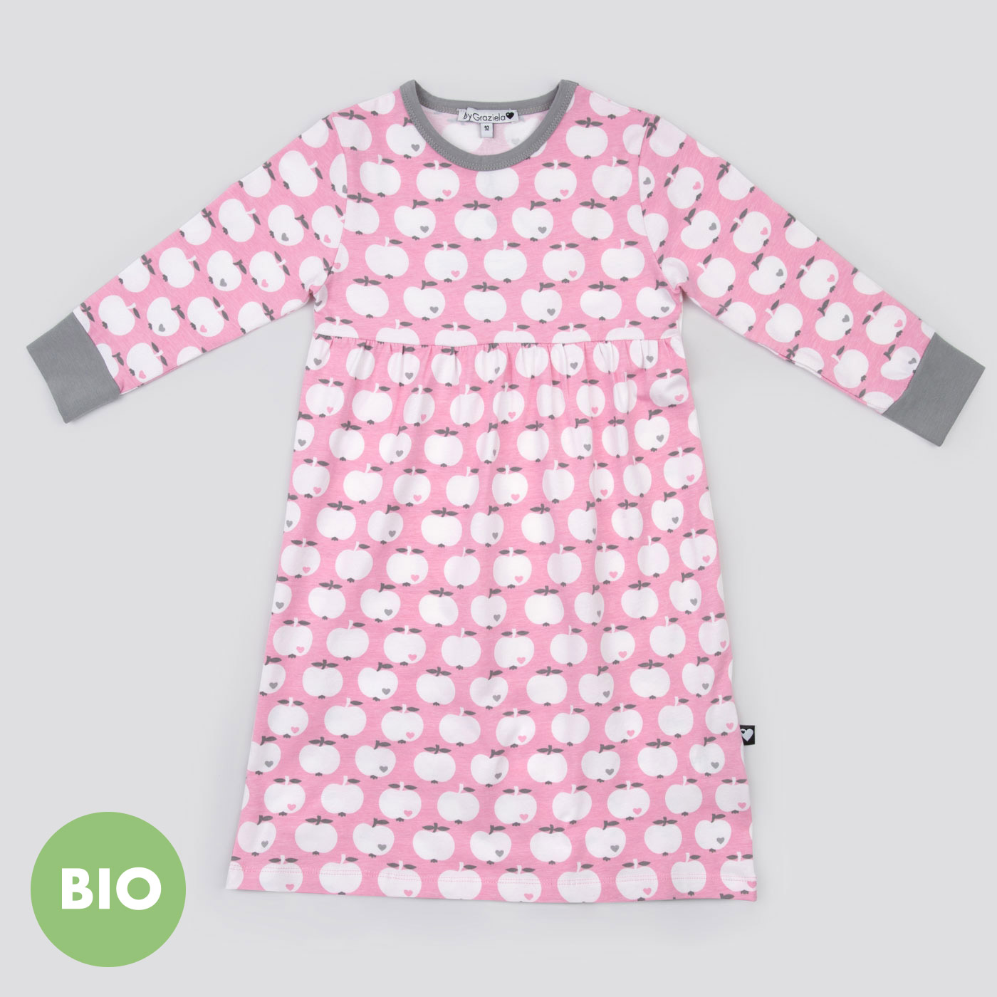 nachthemd apfel rosa grau bis 30 euro f r kinder geschenke bygraziela. Black Bedroom Furniture Sets. Home Design Ideas