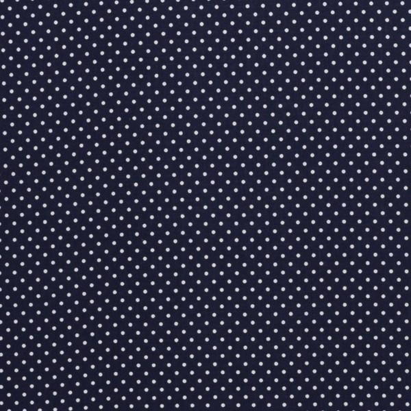 Baumwollstoff kleine Punkte / Dunkeldunkelblau