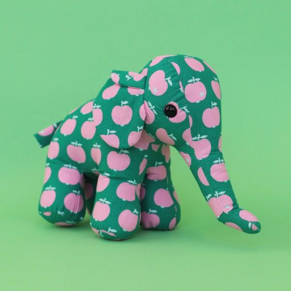 Apfel Elefant / Grün-rosa