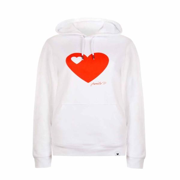 Kapuzen-Sweatshirt Weiß / Herz