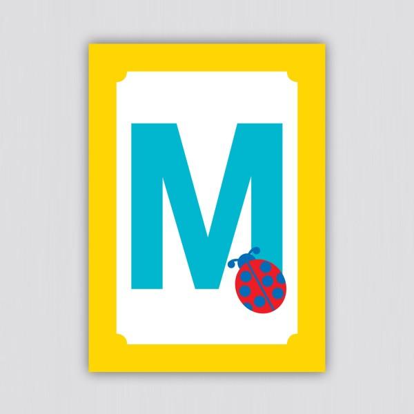 ABC Postkarte – M