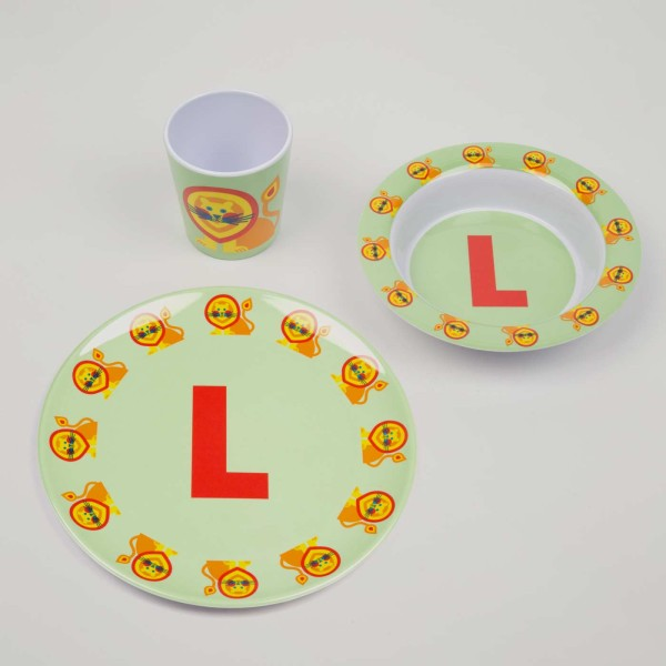 ABC Melamingeschirr-Set L