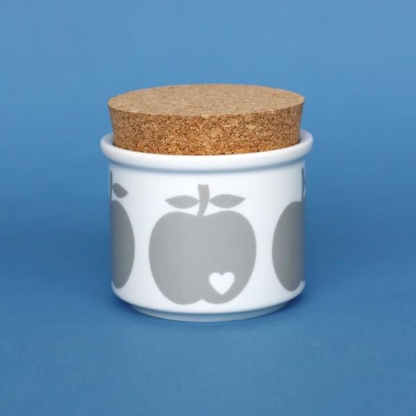 Porzellandose Apfel / Grau