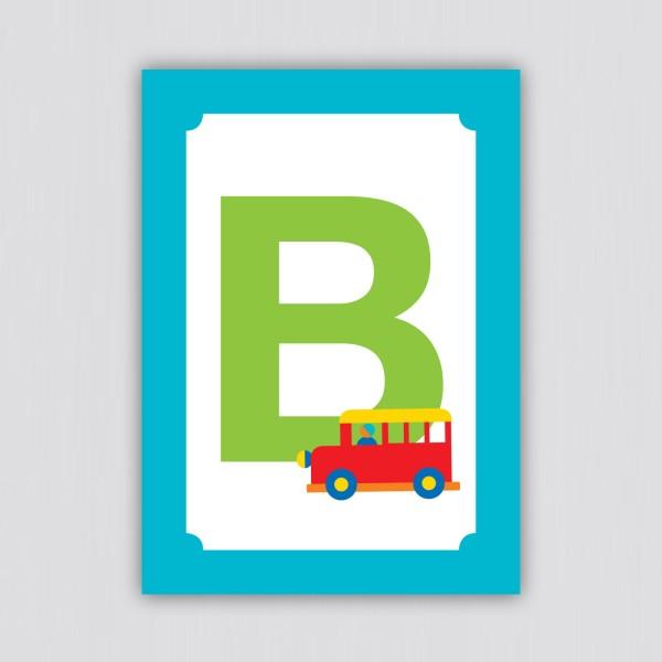 ABC Postkarte – B