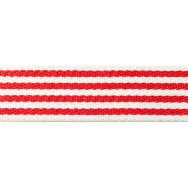 Gurtband gestreift / Rot